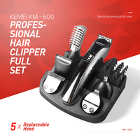Kemei Professional Hair Clipper Electric Shaver 6 In 1 Bread Nose Hair Trimmer Cutters Full Personal Care Hair Cutting Machine