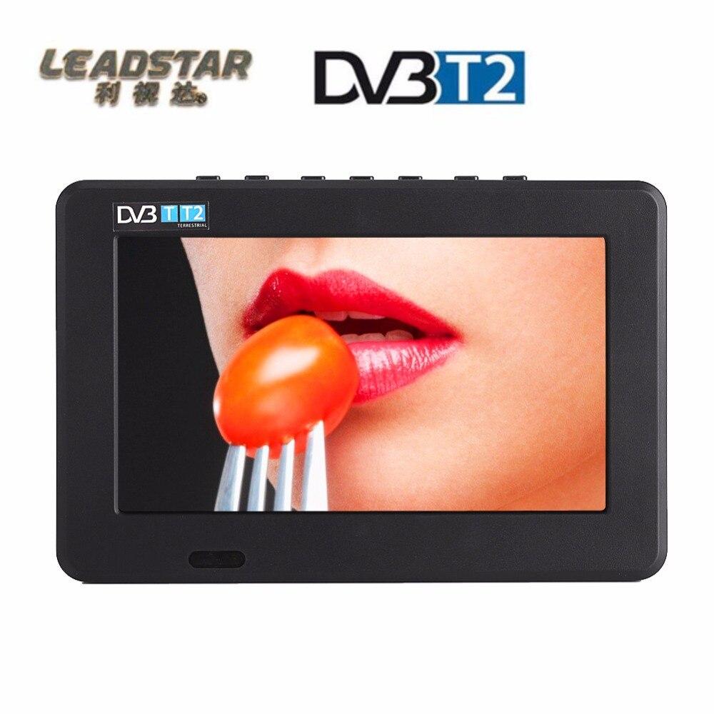 7 Inches DVB-T-T2 Portable TV Television Player 16:9 TFT-LED HD Digital Analog Color 1080p Video UK Plug 800 x 480 Digital TV original dvb t satlink ws 6990 terrestrial finder 1 route dvb t modulator av hdmi ws 6990 satlink 6990 digital meter finder