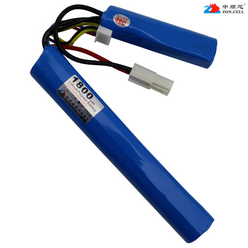 In the 18650 model CS core 11.1V 1800mAh cylindrical lithium battery 12V AK47 M4 battery Rechargeable Li-ion Cell 30a 3s polymer lithium battery cell charger protection board pcb 18650 li ion lithium battery charging module 12 8 16v
