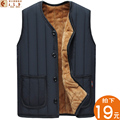 2016 winter vest big yards and wool warm cotton vest