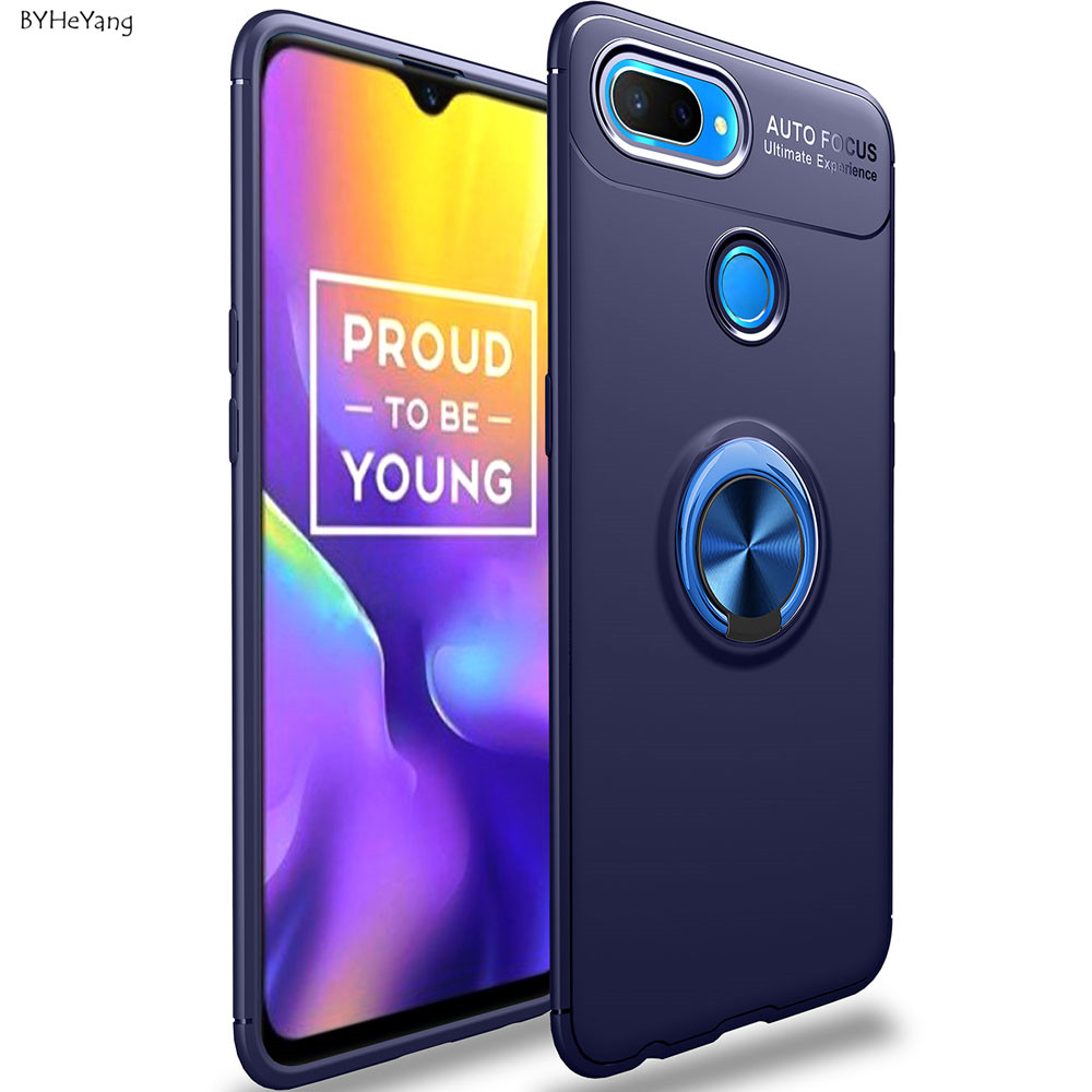 For OPPO Realme U1 Case for OPPO Realme U1 Cover Car Holder soft silicone Magnetic Ring Phone Cover for OPPO Realme U1 Coque