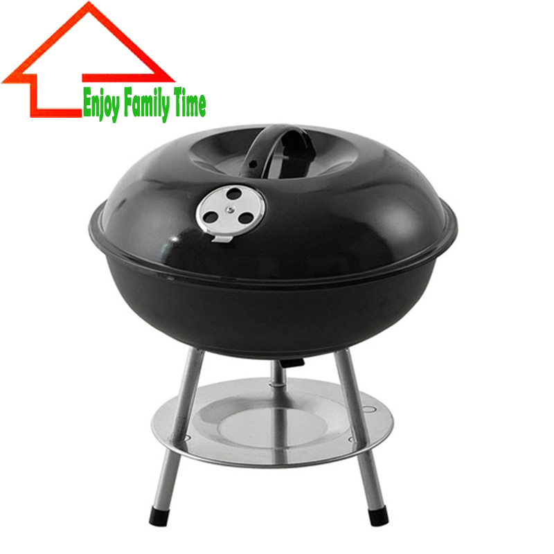 portable folding charcoal bbq grill for 3 to 4 person outdoor camping barbecue roasting picnic. Black Bedroom Furniture Sets. Home Design Ideas