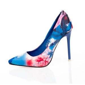 Image 2 - JIANBUDAN גבוהה העקב נשים של עסקים משרד נעליים באיכות גבוהה עור מפוצל סקסי נקבה משאבות רדוד מחודדת הבוהן נעלי נשים