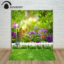 Allenjoy photographic background Balloon woods grass blur backdrops newborn kids photo photocall 10×20
