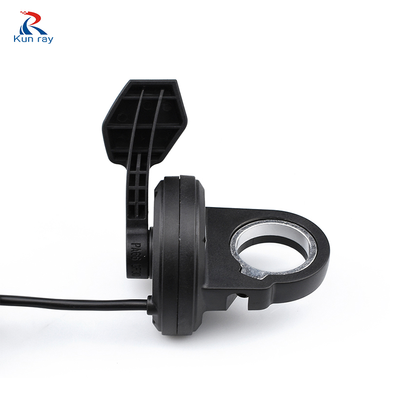 Electric Bicycle Scootor Accelerator Thumb Throttle Ebike Speed Bothway Carbon Fibre Ignition Without Handlebar Bike Part