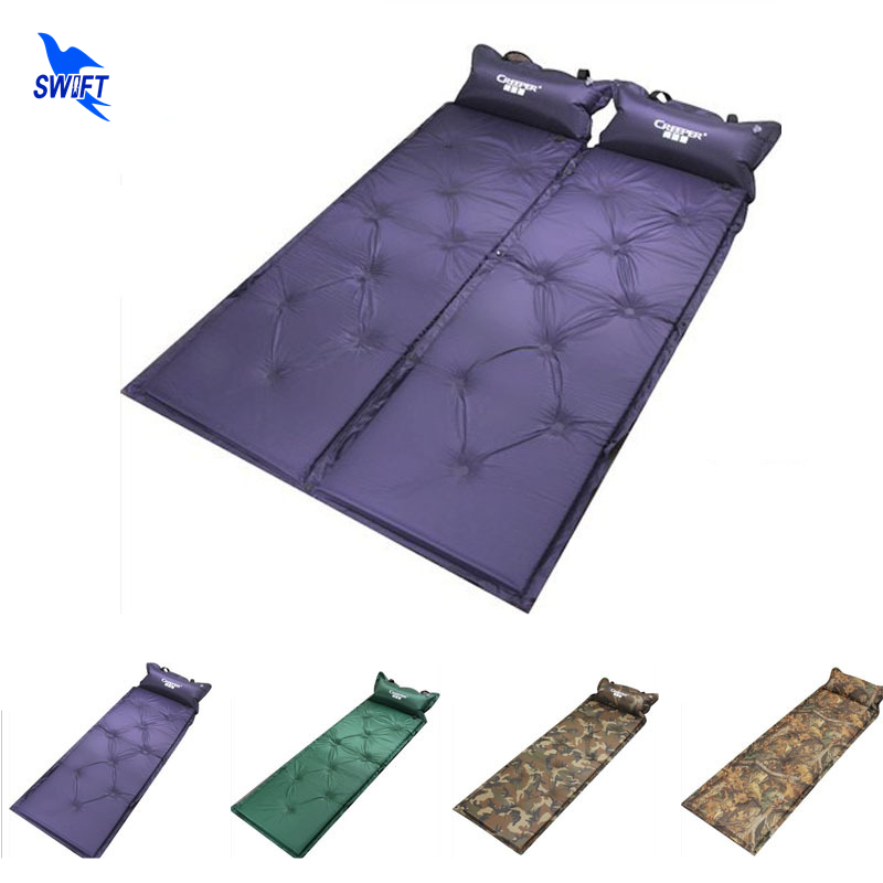 Folding Bed Automatic : Thicken spliced automatic inflatable folding tent bed air