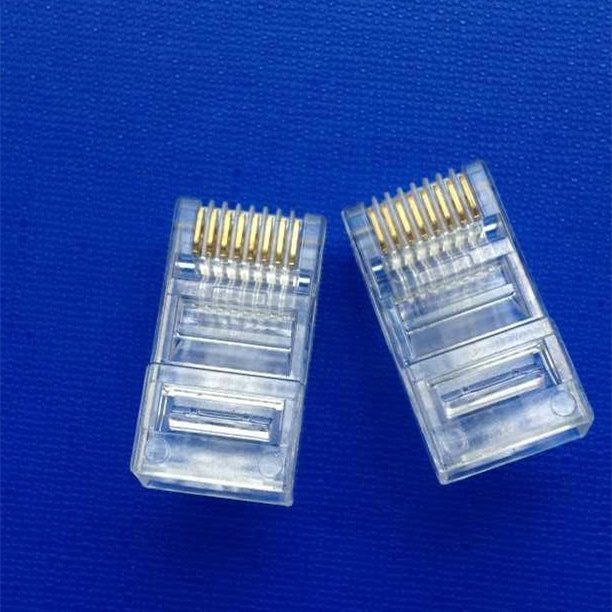 50 PCS LOT RJ45 Connector 8P8C CAT5 non Shielded Through hole gold plated Crystal Head Unshielded crystal head in Connectors from Lights Lighting