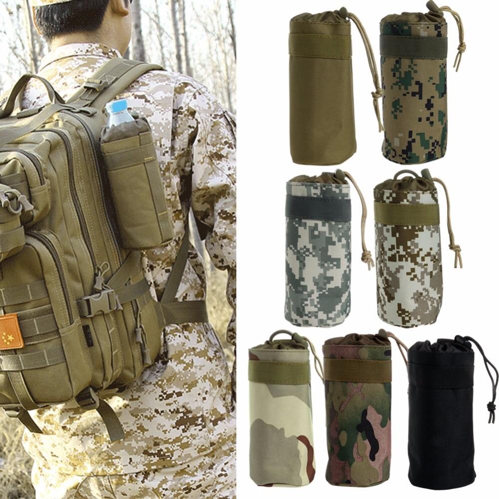 THINKTHENDO Durable Military Durable Water Bottle Bag Kettle Pouch Holder Travel Bag Drawstring Pouch Bag Nylon Equipment