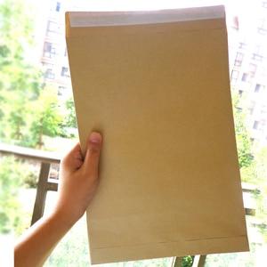 Image 1 - 30pcs Kraft Envelopes Self Adhesive Blank Envelope Big Size Stationery Gift Card Photo Letter Storage Office School Supplies