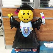 1pc 72*103 Big size graduation foil balloons smiling doctor baloes for ceremony supplies GOOD LUCK ballon baby