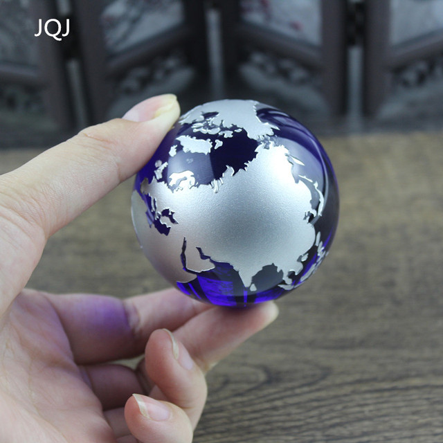 Aliexpress online shopping for electronics fashion home jqj sliver crystal magic sphere globe world map ball craft 60 mm glass marbles world globe gumiabroncs Gallery