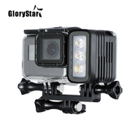 GloryStar 50M Waterproof Underwater Diving LED Light AHDBT 401 Dual Battery Spot Lamp for GoPro HERO 345 6 7 Black for Xiaomi Yi