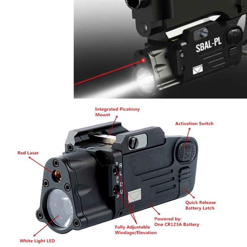 Tactical Laser Flashlight SBAL PL Hunting Weapon Light Combo Red Laser Pistol Constant Strobe Gun Light