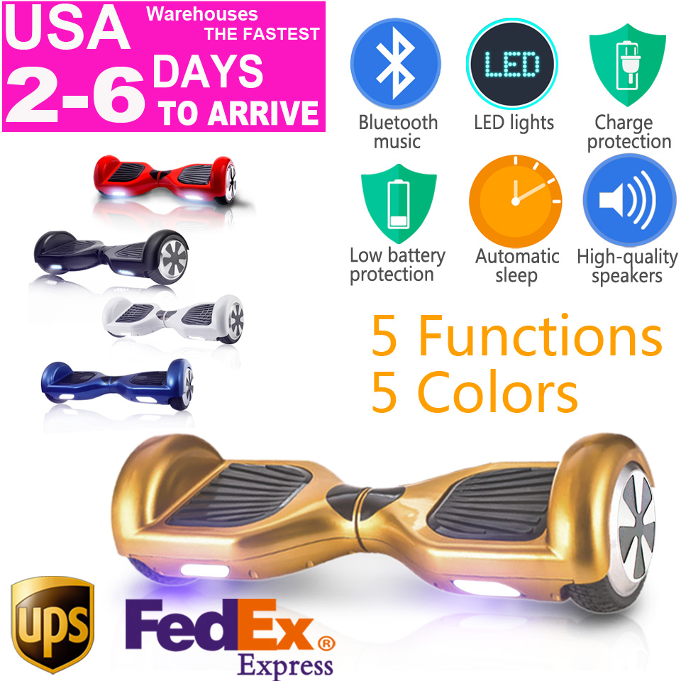 electric skateboard 2 two wheel smart self balance scooter hoverboard 6.5 walk car hoover hover board unicycle usa warehouse