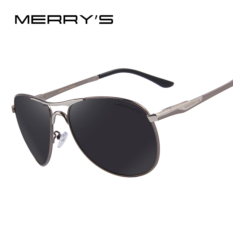 MERRY S Men Aluminum Polarized Sunglasses Classic Brand Sunglasses EMI Defending Coating Lens Driving Shades S
