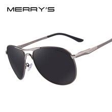 MERRY'S Men Aluminum Polarized Sunglasses Classic Brand Sunglasses EMI Defending Coating Lens Driving Shades S'8712