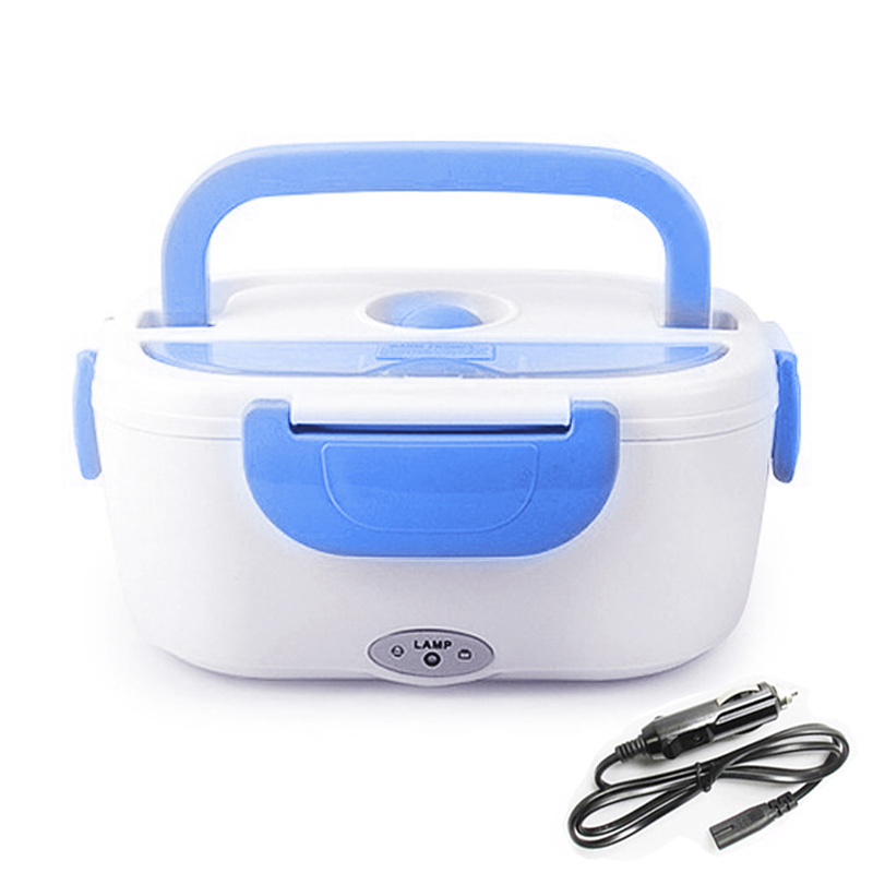 12V Portable Electric Lunch Box With Plug Heated Warmer Food Containers Home Office Plastic Bento Box Adult Dinnerware