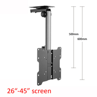 D MOUNT CB 1L 17 37 Foldable 17 37 Screen LED LCD Ceiling Holder Monitor TV Car Mount Hanger Wall Mount Rack Cabinet Mount