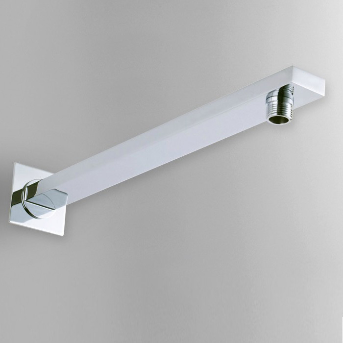 Shower-Arm Wall-Mounted Chrome Rain for SA006-1 40cm 304-Stainless-Steel Square