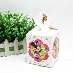 8,5*8,5*18 см Минни Мышь вечерние конфеты в подарочной коробке мультфильм одноразовые вечерние коробка конфет День рождения девочки вечерние