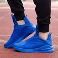 2016 Воздуха Корзина Бег Повседневная Обувь Мужчины Скольжения На Бездельников Новый Высокий Верх Мода Дышащая Повседневная Обувь Chaussure Zapatos Hombre