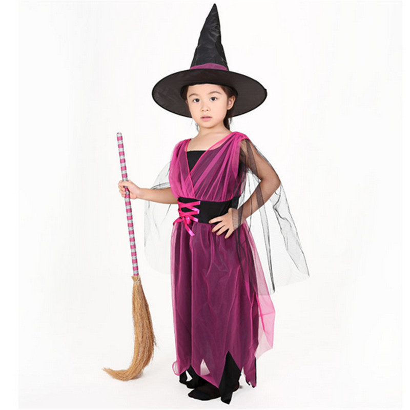 2018 New skeleton Costumes Halloween Christmas Kids Girls Children Fly Cap Costume Bow-knot Party Cosplay Performance Clothes