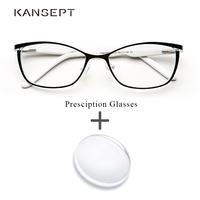 Metal Women Prescription Glasses Cat Eye Computer Myopia Oculos de grau feminino armacao Optical Eyeglasses for Female#TWM7553C1