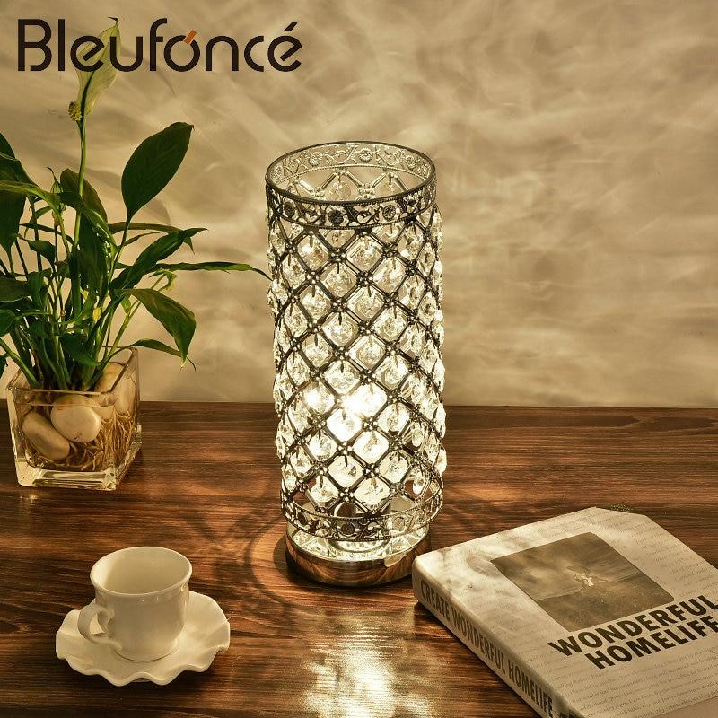 5W LED Crystal Light Bedroom Bedside Lamp Warm Romantic Simple Modern Decorative Table Lamp Reading lights LED Desk Lamps BL214