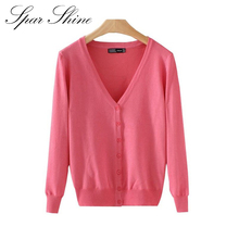 21 Solid Colors new Sweater Women Cardigan Knitted Sweater Coat Long Sleeve Crochet Female Casual V-Neck Woman Cardigans Tops