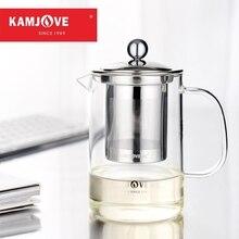 Freies verschiffen Kamjove tee tasse elegant becher bor silizium-glas-tasse teekanne tee gerät eingestellten Filter glas teekanne