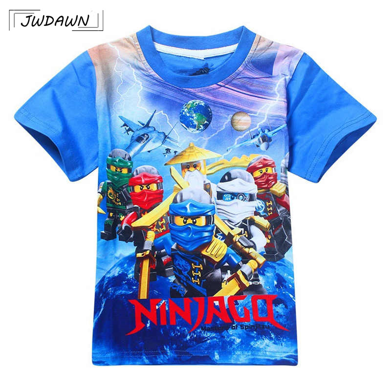 Boys Costume Clothing T-Shirts Ninjago Summer Kids Children Tees Cotton Top 3-10y title=