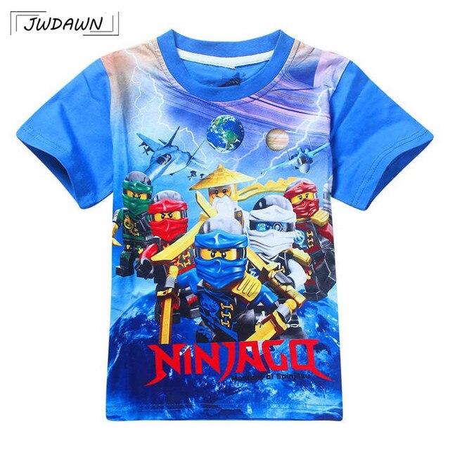 Meninos Camisetas 2018 Verão Crianças Ninjago T Camisas de Algodão Top T Das Meninas Dos Meninos tshirt Traje Meninos Roupas Crianças Roupas 3-10y