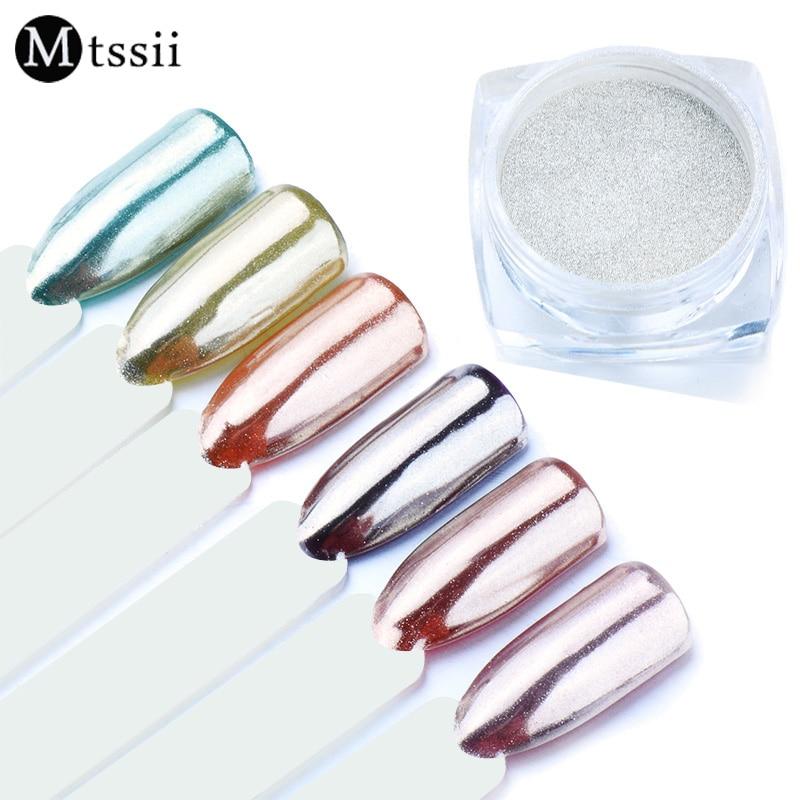 Silver Gold Mirror Nail Glitter Shimmer Nail Art Chrome Pigment Powder Dust Glitters Nail Art Dipping Manicure UV Gel Polish