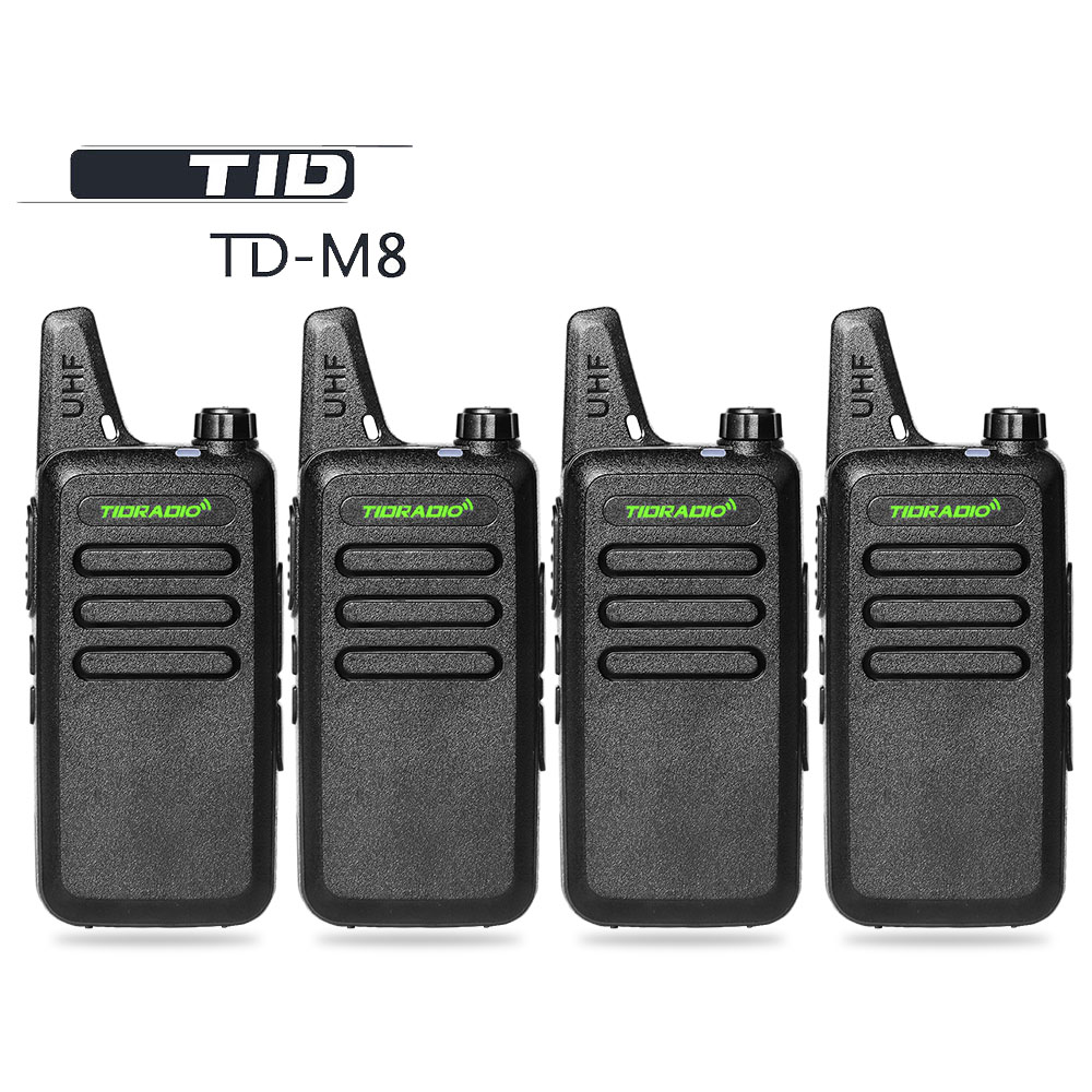 4pcs / lot TID רדיו TD-M8 מיני ווקי Talk UHF 400-470MHz Communicator CB חם רדיו HF Transce שני רדיו דרך צעצועים לילדים