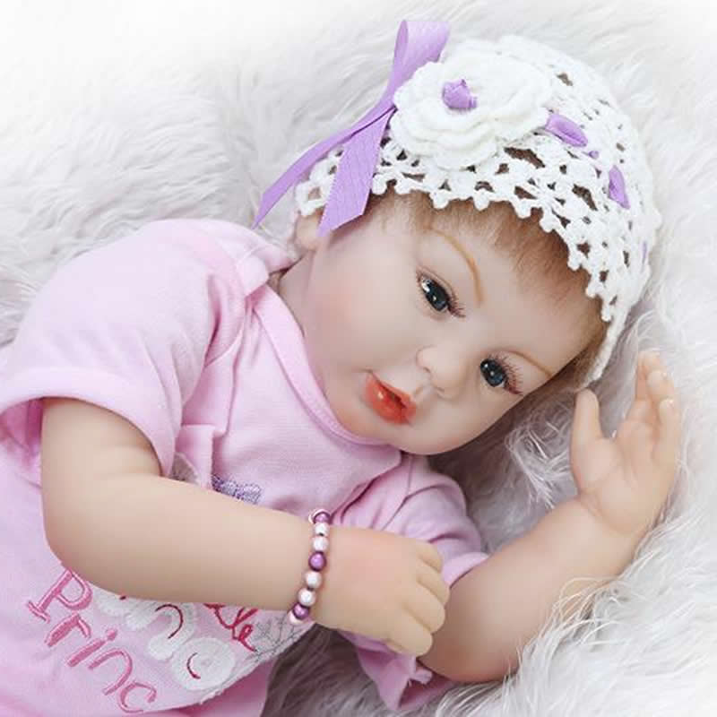 Handmade 22 Inch Reborn Doll Baby Silicone Soft Newborn Realistic Princess Girl Babies With Fashion Clothes Kids Birthday Gift handmade soft bottom fashion tassels baby moccasin newborn babies shoes 18 colors pu leather prewalkers boots