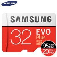 Original SAMSUNG New EVO Plus 32GB Micro SD Memory Card Class10 TF SD Cards C10 R95MB