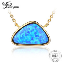 JewelryPalace Classic 6ct Created Opals Chain Necklace 925 Sterling Silver 18 Inches Best Gift For Girlfriend Birthday Present