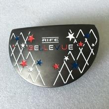 Nya golfklubbar leder BELLEVUE R Golf putter huvud svart Färg Golf huvuden nej Klubbar axel