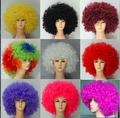 Super large afro wig halloween wig clown fans wig  Christmas Halloween Carnival Party Short Curly Cosplay Wigs of various colors