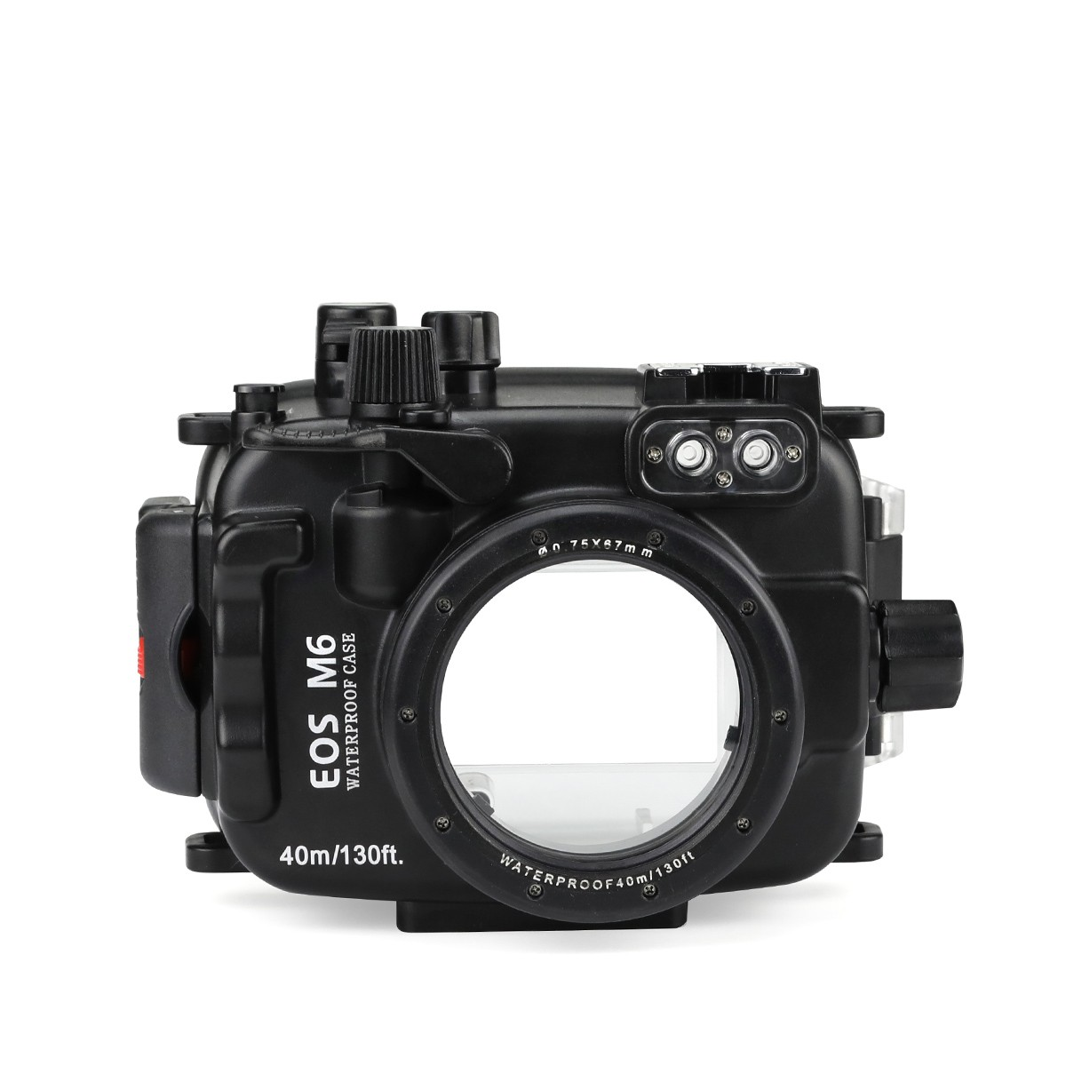 SeaFrogs 40m/130ft Underwater Diving Camera Housing Case For Canon EOS M6 22mm Lens Waterproof Camera Bags For Canon EOS M6 22mm mcoplus 40m 130ft waterproof underwater housing camera case bag for canon eos g16