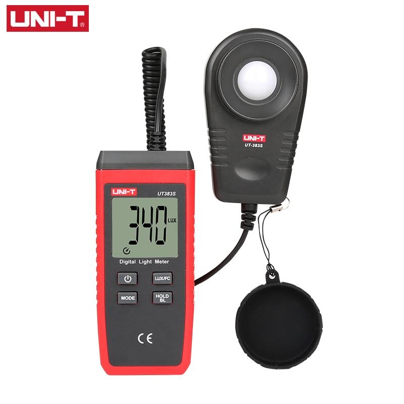 UNI-T UT383S светильник, измеритель 200000 люкс, цифровой люксовый измеритель яркости LUX Fc, тест, Макс. Мин, осветители, фотометр