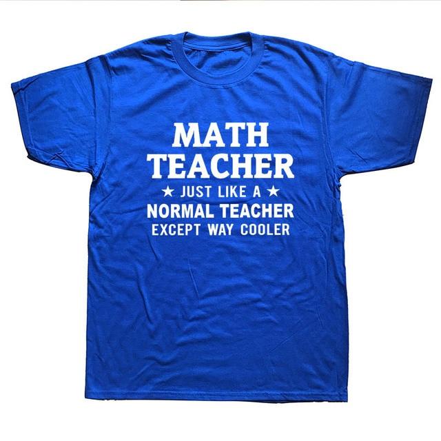 WEELSGAO Math Teacher T Shirt Men Short Sleeve Teachers Day Gift Birthday