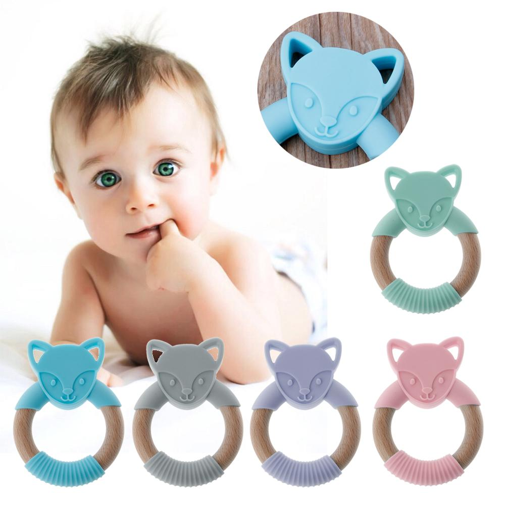 Safety Baby Kids Teething Silicone Teether Chew Toy Molar Rod Relieve Tooth Pain
