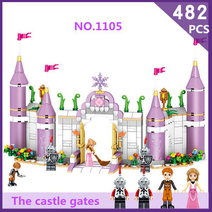 Image 4 - סרט האגדה diy צעצועים מצחיק נסיכת טירה תואם Legoe חברים עיר טירת דגם אבני בניין ילדה צעצועי ילד