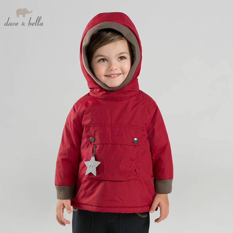 DB8891 Dave Bella Winter Baby Padding Jacket Children Unisex Fashion Outerwear Kids Coat