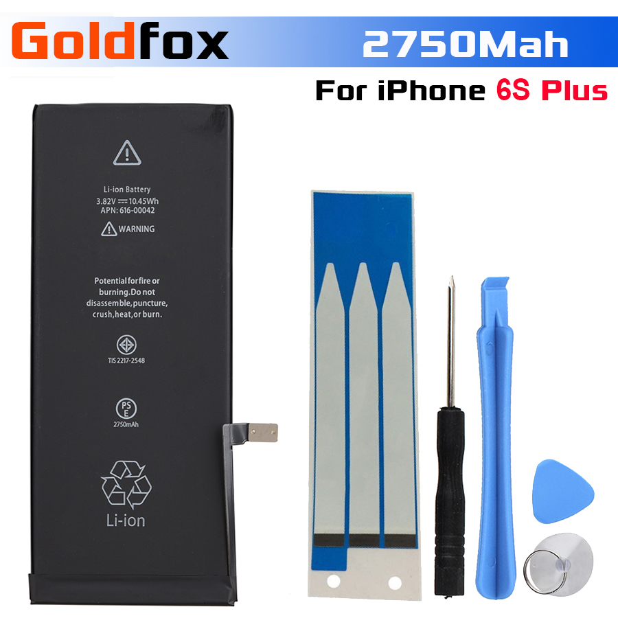 GOLDFOX Mobile-Phone-Battery IPhone 6s Replacement Plus 2750mah For With Tools-Kit