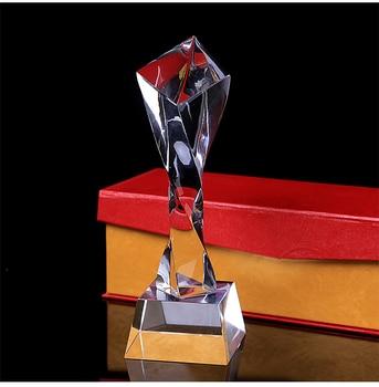 24CM Twist Crystal Trophy Cup Creative Customize Prize Cup Promotion Encourage Souvenir