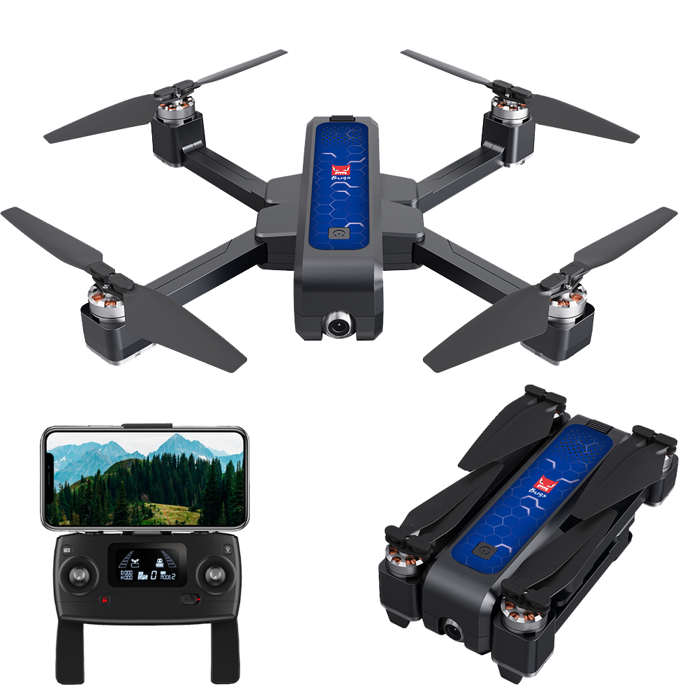 Image 3 - Mjx Bugs4 W B4w 5g Wifi Fpv Gps Brushless Foldable Ultrasonic Rc Drone 2k Camera Anti shake Optical Flow Rc Quadcopter Vs F11-in RC Helicopters from Toys & Hobbies