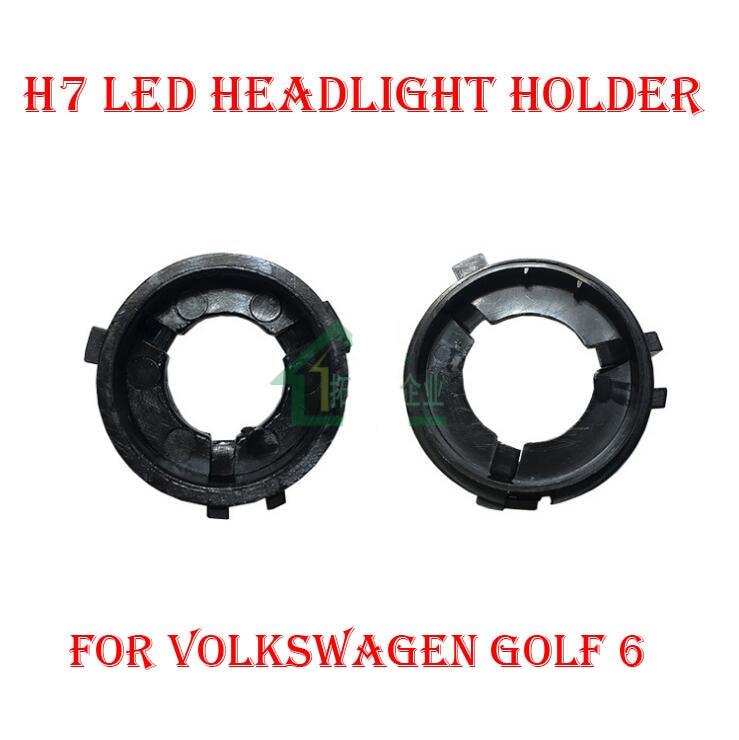 2PCS H7 Sada pro přestavování světlometů LED Držák žárovky Adaptér Držák základny Držák zásuvky pro Volkswagen VW Golf 6 Touran Sharan Scirocco