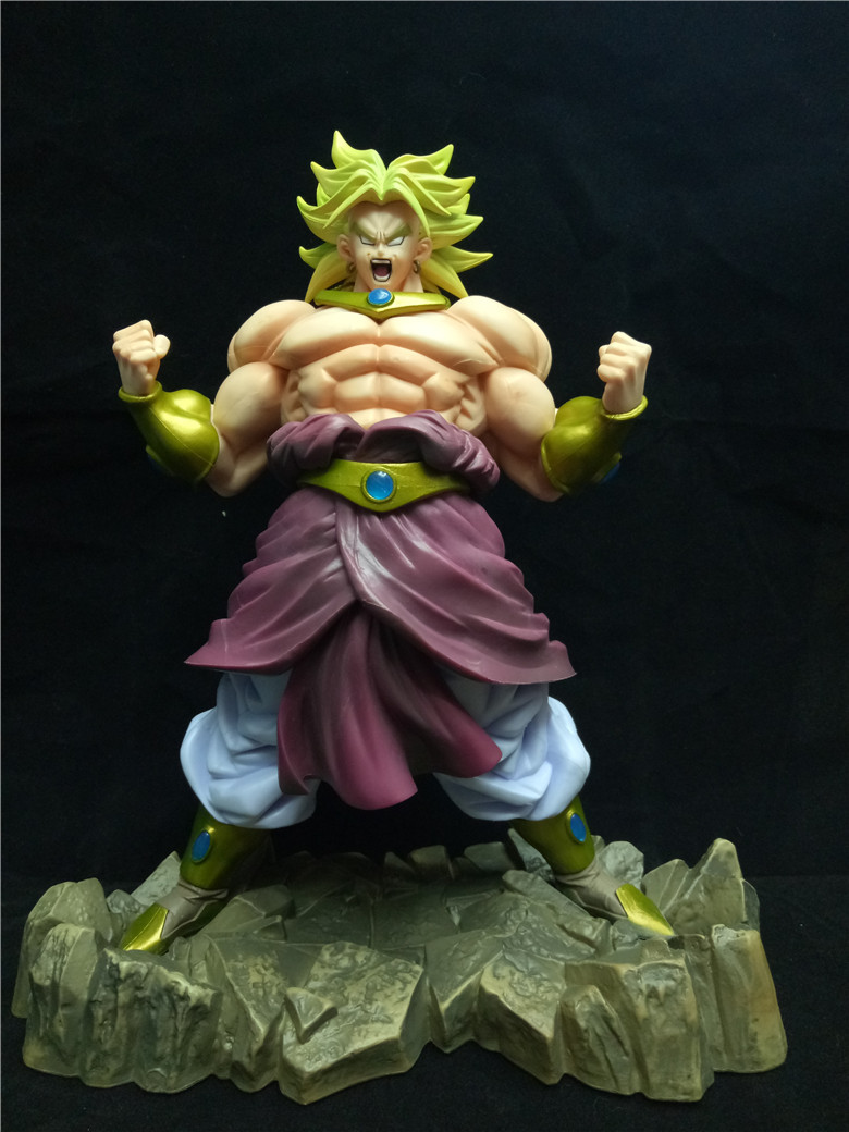 ФОТО Dragon Ball Z Broli Broly Figure Legendary Super Saiyan Broli Son Goku Radish Kakarotto 25CM PVC Action Figure Model Kids